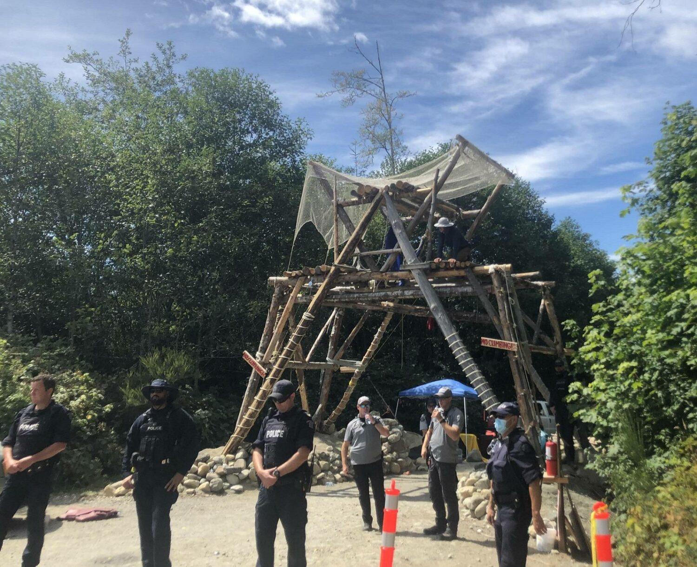 Last standing blockade near front entrance.