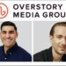 Overstory Media Group logo on top, photo of Farhan Mohamed bottom left, photo of Andrew Wilkinson bottom left, on white background